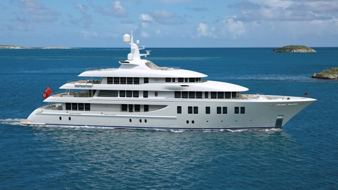 Delta Superyacht Invictus with Ezone by Glasshape