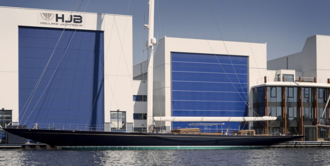 J Class super yacht TOPAZ (J8) just launched at Holland Jachtbouw