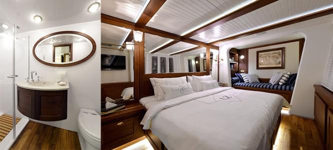 LUCY Z Yacht - Master cabin & bathroom