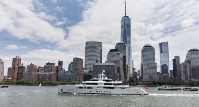 Luxury motor yacht GRACE E in New York City