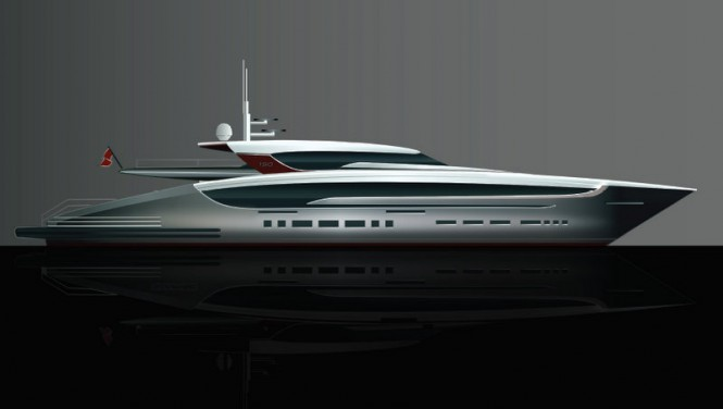 Luxury superyacht Sunrise 150 Open design by Sunrise Yachts and Focus Yacht Design
