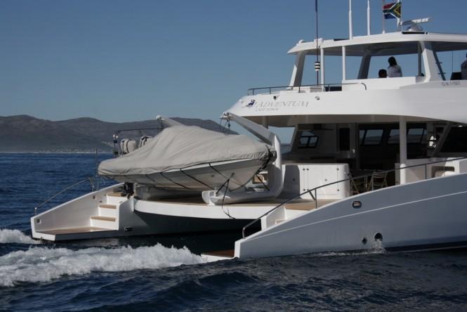 Luxury yacht ADVENTUM - aft view