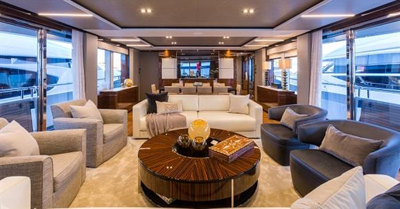 Luxury yacht ANTHEYA III - Saloon