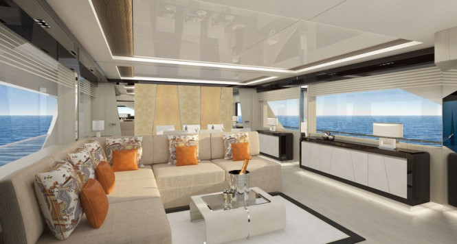 Luxury yacht ILUMEN 26 - Saloon