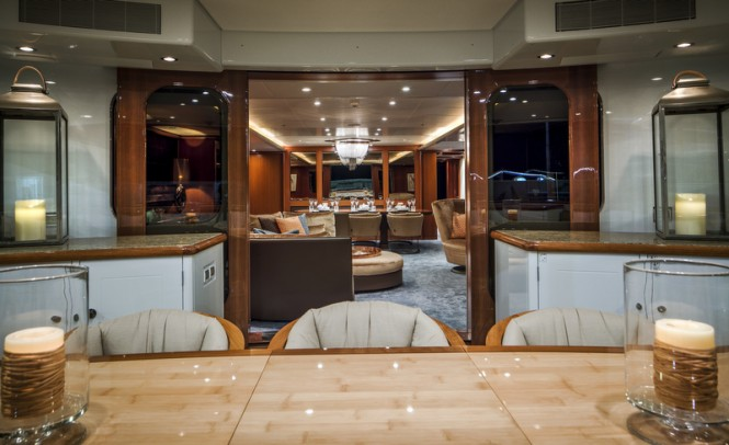 Luxury yacht LADY INDIA - Photo by Peter Baas