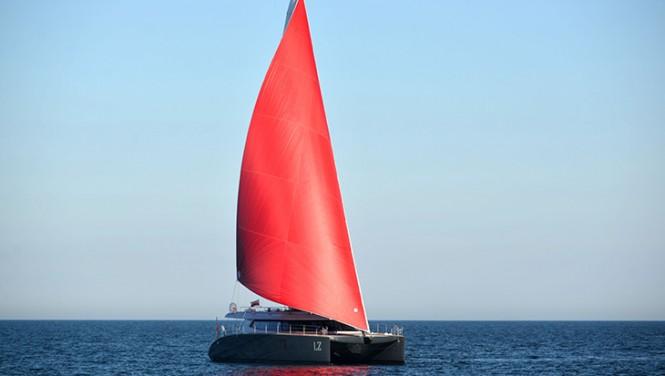 Luxury yacht LUCY Z under sail