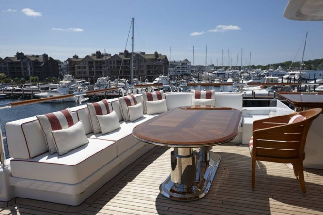 Luxury yacht ROCK.IT - Bridge Deck aft - Photo by Feadship Fanclub