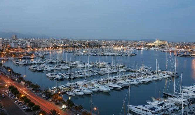 Marina Port de Mallorca in the glamorous Palma yacht vacation location