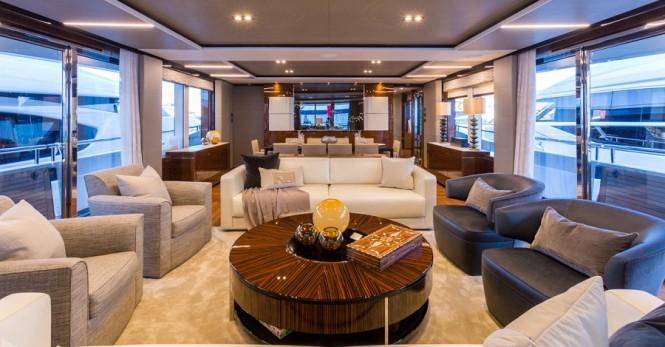 Motor yacht ANTHEYA III - Saloon