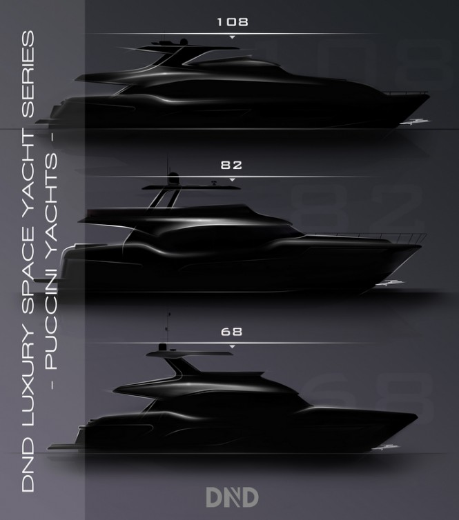 New Series of Luxury Yachts by DND Yacht Design for Puccini Yachts