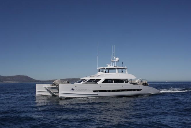 Open Ocean 750 Expedition Catamaran ADVENTUM underway