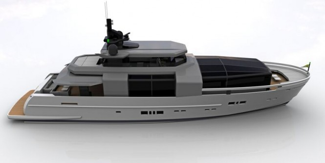 Rendering of Arcadia 100 Yacht