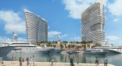 Rendering of The Deep Harbour at Island Gardens in the lovely Miami yacht vacation location