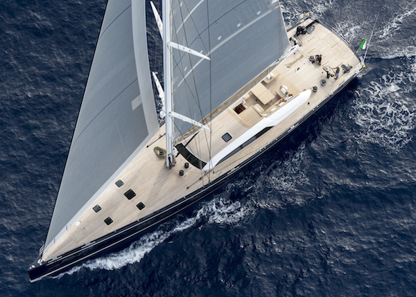 Sailing superyacht Swan 115 S from above - Nautors Swan Carlo Borlenghi & Eva-Stina Kjellman