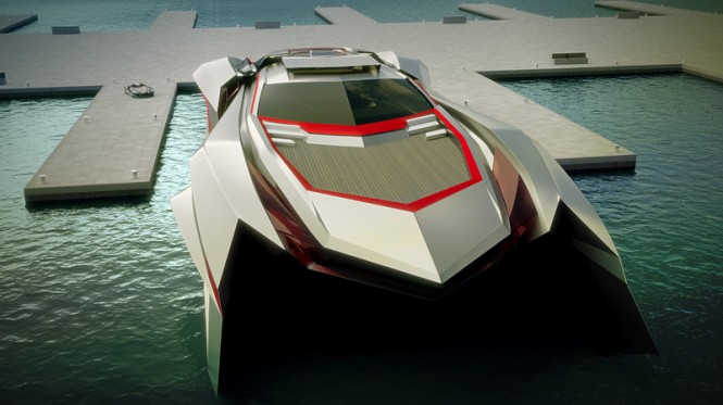 Super Yacht KRAKEN concept - front view
