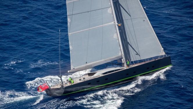 Super yacht WinWin – side view – Photo by Jesus Renedo