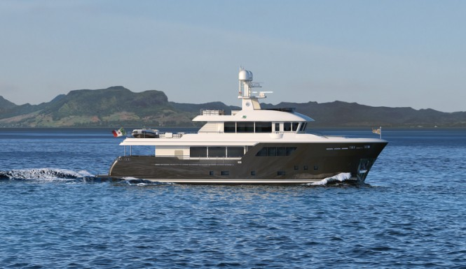Superyacht ACALA - side view