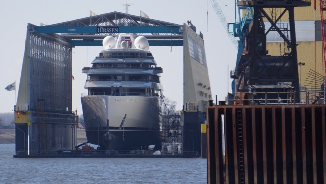 Superyacht OMAR to be launched soon - Photo by DrDuu