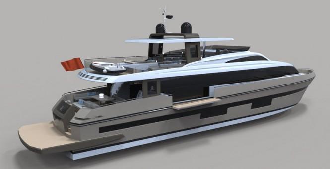 Superyacht SeaStella 110' - aft view