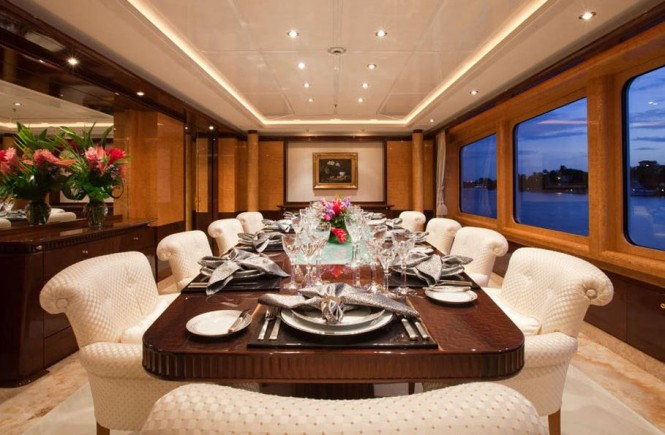 Yacht LADY LOLA -  Formal Dining