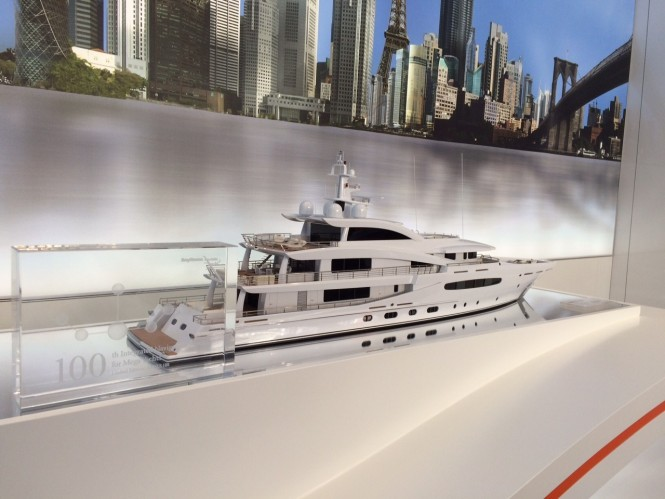 A scale model of the new AMELS 188 on display at MYS 2015