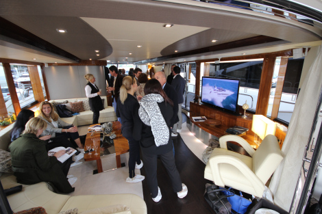 Club Vivanova Guests aboard Sunseeker superyacht SPONTANEOUS
