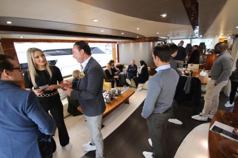 Guests aboard Sunseeker 28 Metre Yacht SPONTANEOUS
