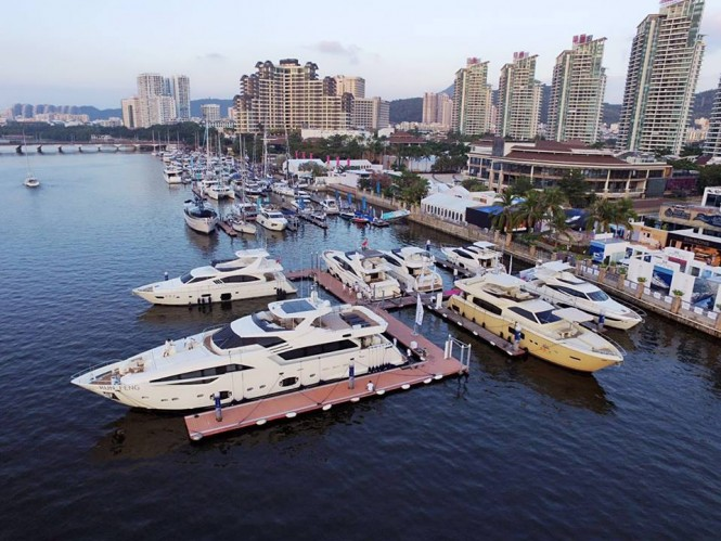 Luxury motor yachts by Ferretti Group at the Hainan Rendezvous 2015