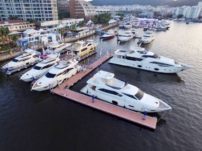 Luxury yachts by Ferretti Group on display at Hainan Rendezvous 2015
