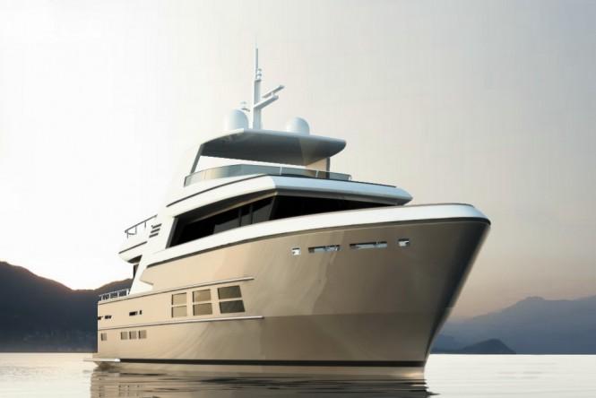 Rendering of the 24m Drettmann Explorer Yacht