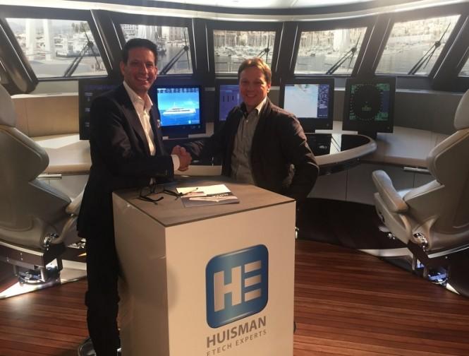 Rob Huisman, director of Huisman with Peter Dijkstra