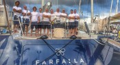 Southern Wind Superyacht FARFALLA 'A' Team before the start of the ARC race in Gran Canaria