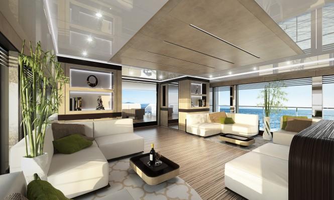 Wider 150 superyacht GENESI - Main Saloon