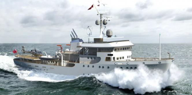 60m explorer CAPELLA C redesigned by ER Yacht Design