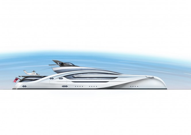 100m Trimaran concept by Winch Design - Profile