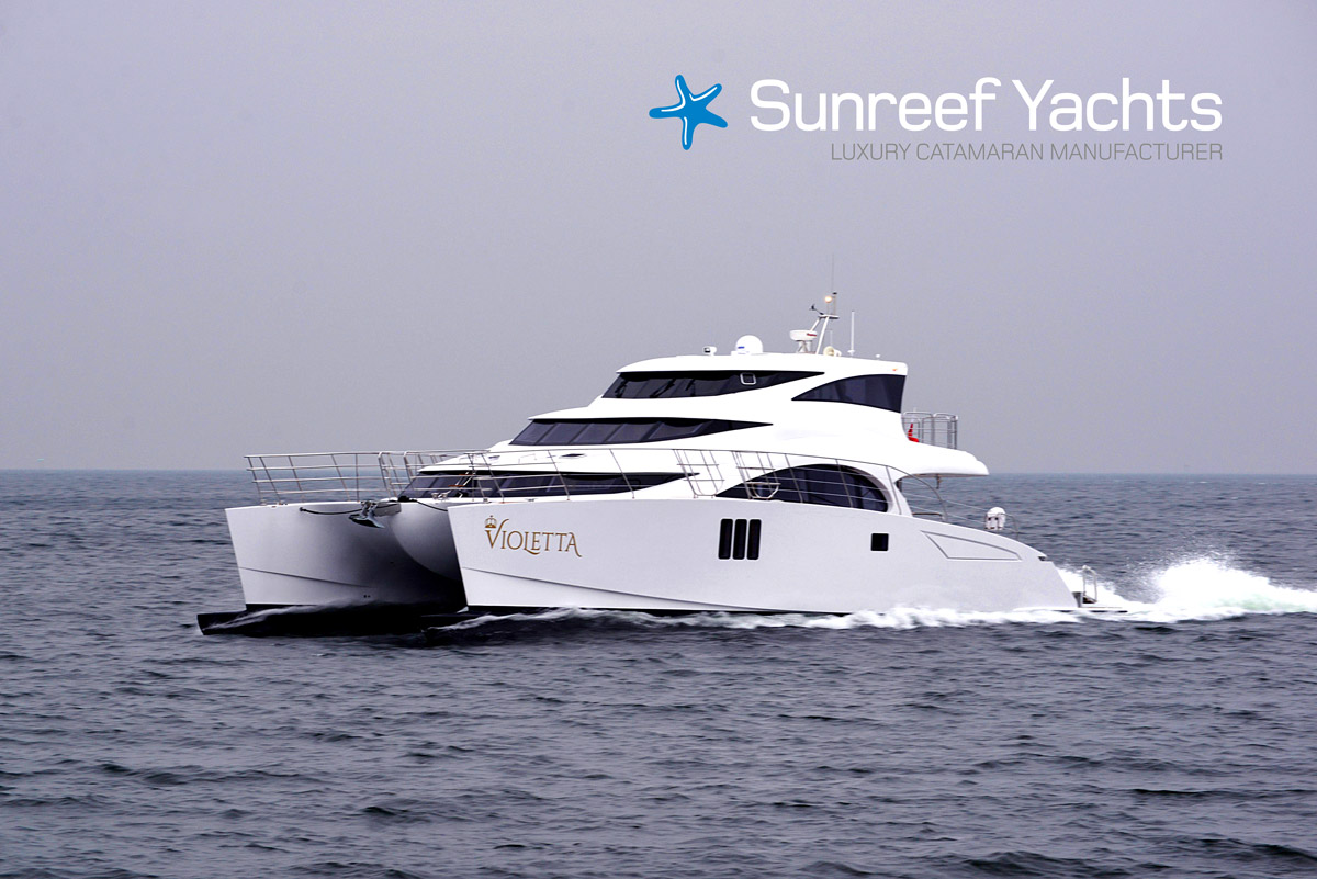 70 Sunreef Power Catamaran Violetta Yacht Charter