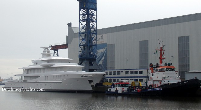 Arrival of AMELS 24202 in Vlissingen - Photo by Dutchmegayachts