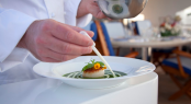 Culinary fair aboard a superyacht