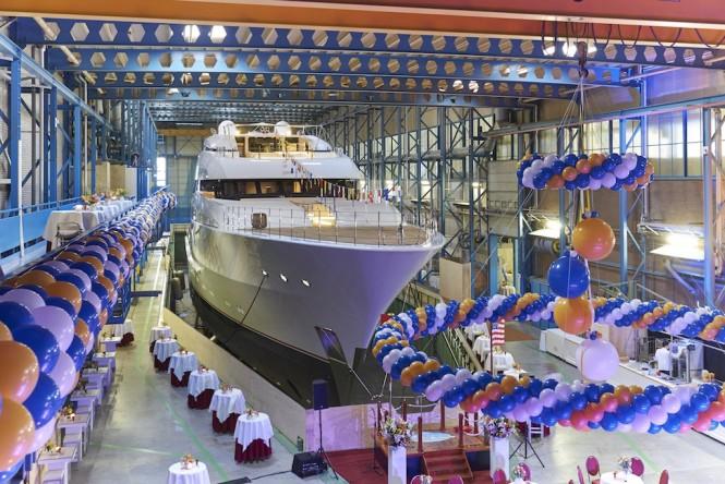 Feadship yacht VANISH launch