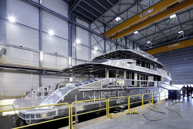 Heessen Yachts Project NOVA superyacht under construction - Photo by Dick Holthuis