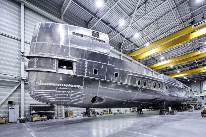 Heessen Yachts Project NOVA under construction - Photo Dick Holthuis