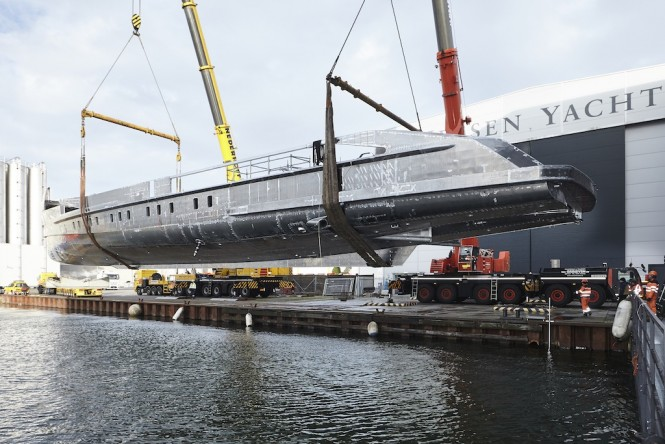 Heessen Yachts Project NOVA under construction - Photo by Dick Holthuis