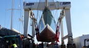 Lifting of SY HETAIROS at STP Shipyard Palma