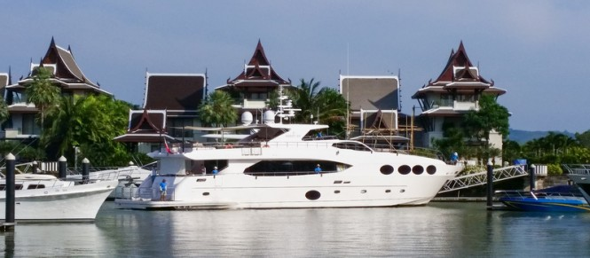 Majesty 105 at Royal Phuket Marina