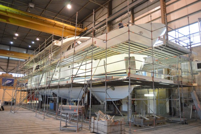 Moonen 97 Yacht under refit