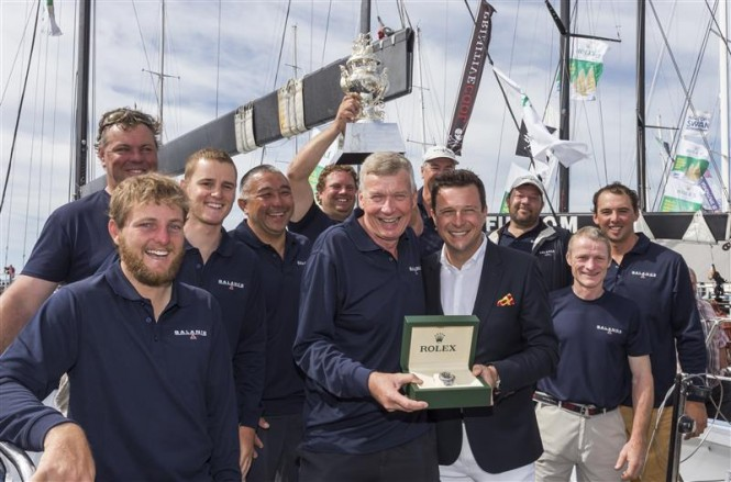 Overall Winner Paul Clitheroe and Balance Crew - Photo by Rolex Stefano Gattini