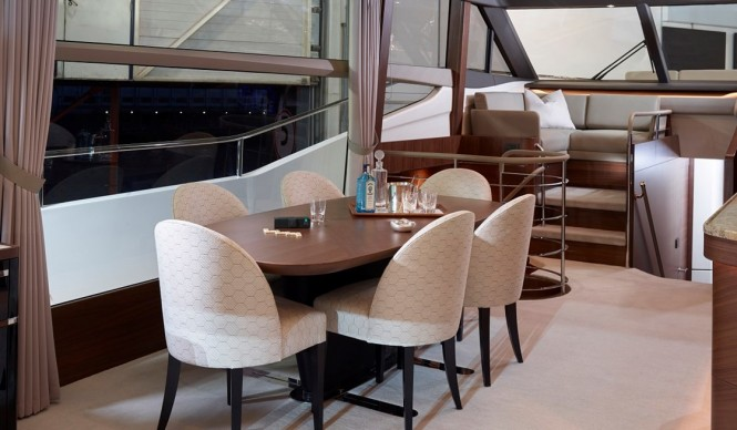 Princess 75 - Dining Area - Image by Princess Yachts International plc