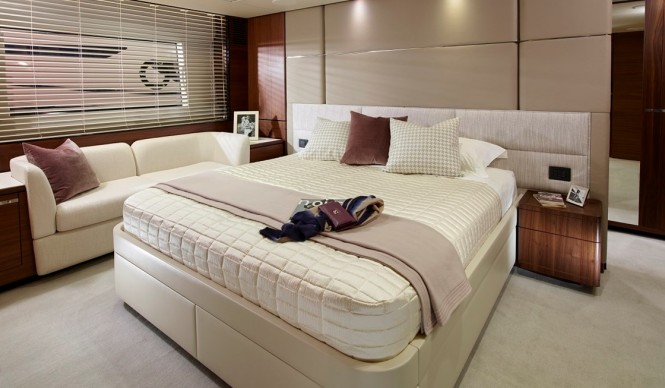 Princess 75 - Master Stateroom - Image by Princess Yachts International plc