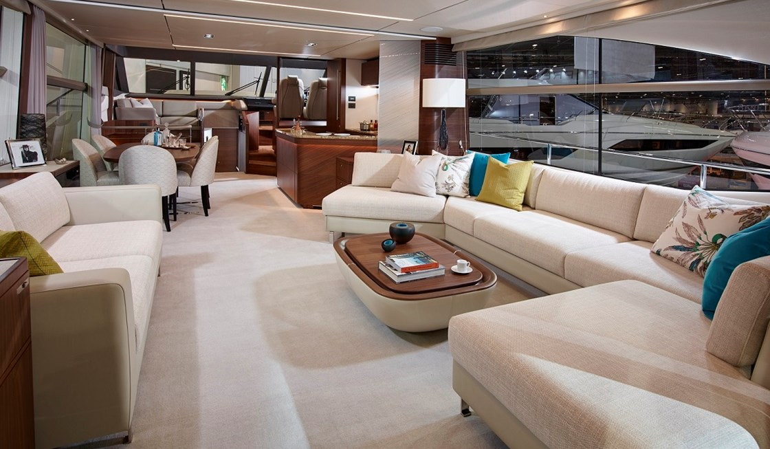 princess 75 saloon image by princess yachts international plc luxury yacht charter. Black Bedroom Furniture Sets. Home Design Ideas