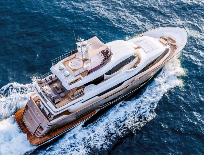 Second Custom Line Navetta 28 YVONNE from above